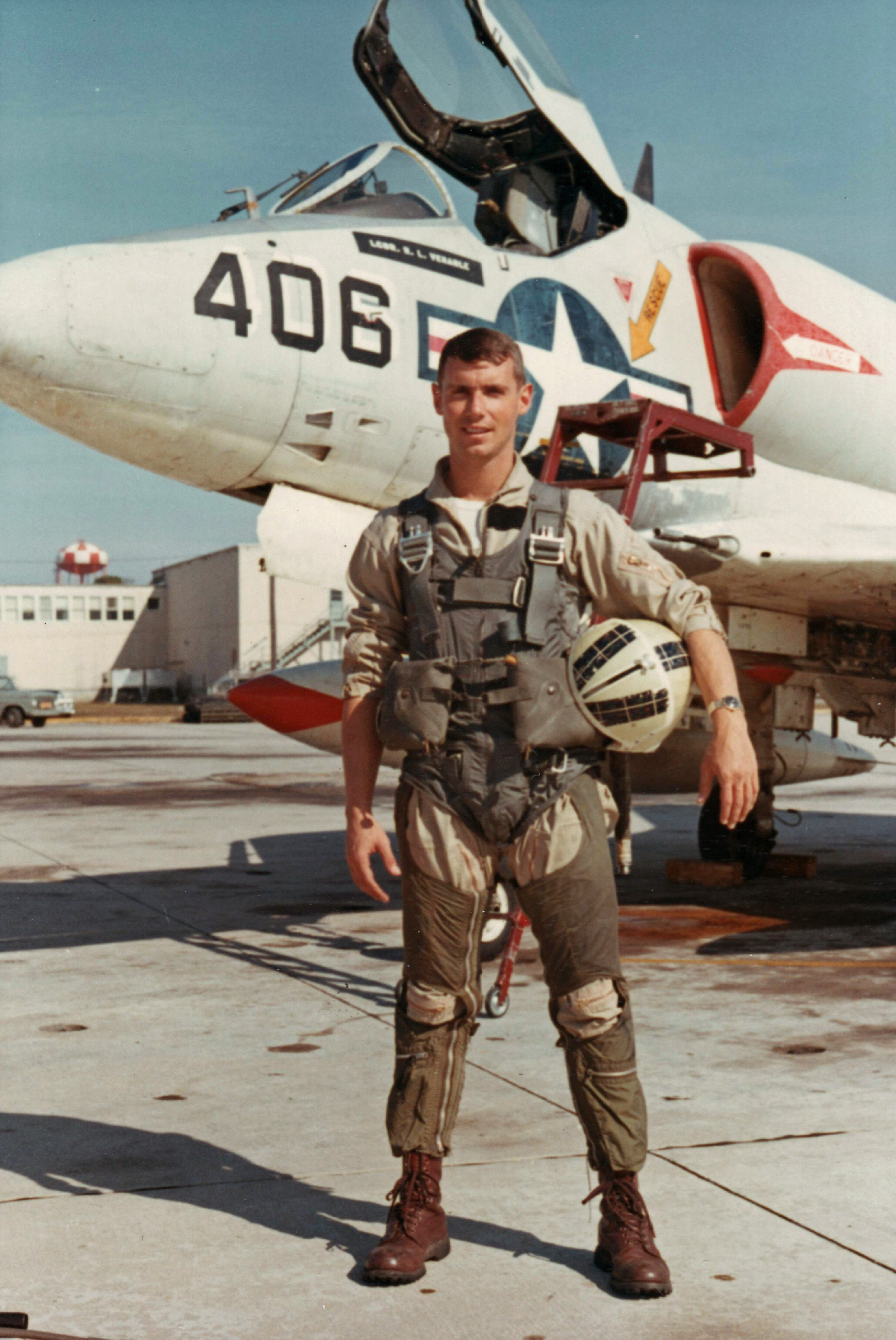Captain David Dollarhide, 1967. Note the �McKenzie� tartan on helmet.