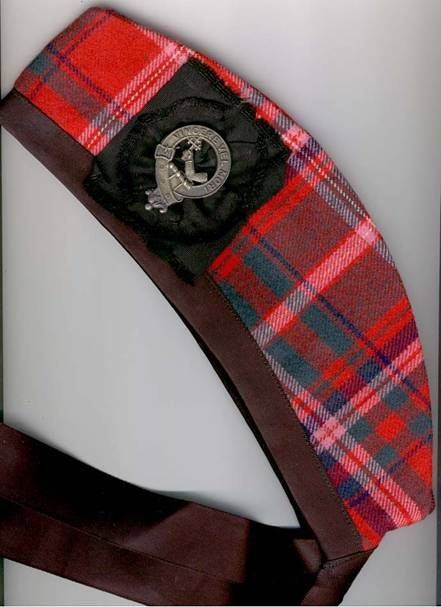 Squadron glengarry in MacDougall tartan with badge.